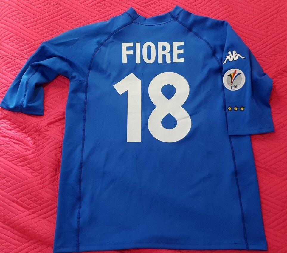 FIORE 18 EURO 2000  Italia Belgio Olanda calcio maglia shirt jersey XL RARE