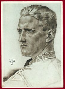 German WW 2 Third Reich postcard  Leader of the German youth in Romania VDA
