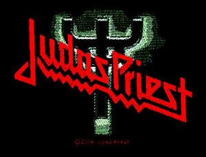 judas priest logo fork aufn her patch nwobhm heavy metal. Black Bedroom Furniture Sets. Home Design Ideas