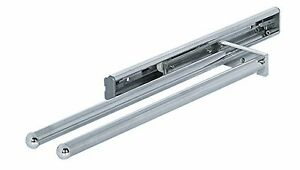 Pull-Out-Kitchen-Tea-Towel-Holder-Rail-POLISHED-CHROME-2-ARM-330-mm