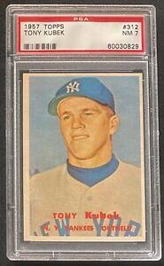 1957-Topps-Tony-Kubek-RC-PSA-7-NM-312-New-York-Yankees-Baseball-Rookie-Card