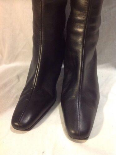 Size Boots Leather 5 Black High Knee Berkertex xwt0XIq0