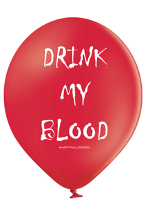 10 X DRINK MY BLOOD BALLOONS ABUSIVE// BANTER//PARTY// HALLOWEEN