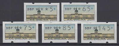 Berlin - Automatenmarken (atm) 1987 Nr. 1 - Vs 2 - Postfrisch/** (5 Werte) Von Der Konsumierenden öFfentlichkeit Hoch Gelobt Und GeschäTzt Zu Werden