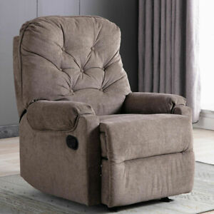 Manual-Recliner-Chair-Fabric-Armchair-Sofa-Padded-Living-Room-Chaise-Footrest