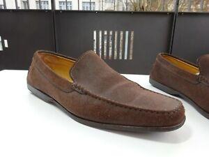 Tod-S-Tods-Chaussures-Hommes-Slipper-Mocassin-Daim-Braun-Italie-Gr-45-10-5