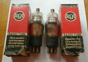 Pair-of-RCA-Cunningham-Radiotron-Radio-Tubes-2B7-Untested-Boxed-NOS-NEW-USA