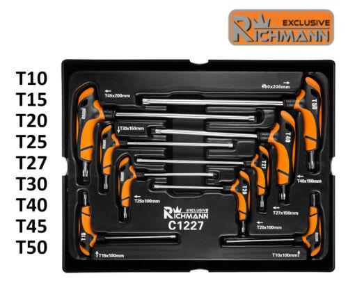 Jeu de clés Torx T10 T15 T20 T25 T27 T30 T40 T45 T50 module pour servante C1227