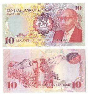 Lesotho-10-maloti-1990-FDS-UNC-pick-11-lotto-2469