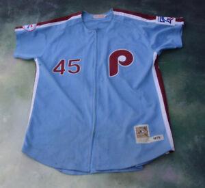 8d3b46ee6c5 Mitchell   Ness MLB Philadelphia Phillies Tug McGraw  45 Jersey Size ...