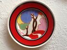 bizzarre blue autumn plate clarice cliff