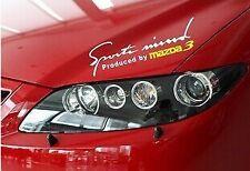Amazing HEADLIGHT Sopracciglio Adesivi Auto Decalcomanie Grafiche in vinile per Mazda 3 (Bianco)