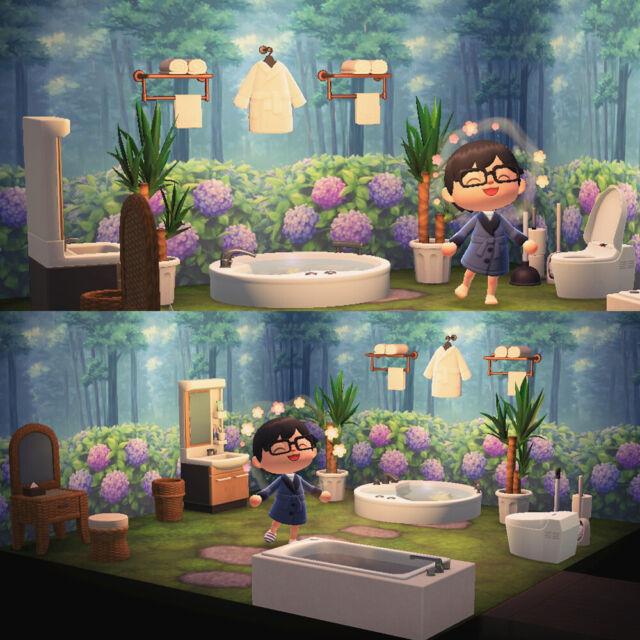 Animal Crossing Garden Bathroom ACNH Room House Design Inspo Natural   eBay