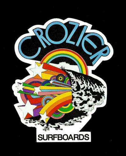 CROZIER SURFBOARDS Australia STICKER DECAL 1970/'s Surfboard Manufacturer Surfing