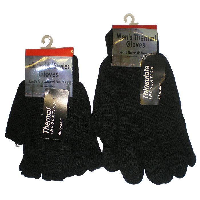 1 Pair Mens Fingerless,and full fingers insulated glove