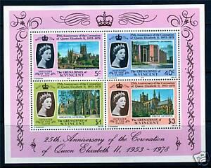 Gren-St-Vincent-1978-Anniv-of-Coronation-MS-SG134-MNH