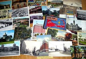 Lot-of-40-Vintage-postcards-Random-cards-from-the-1910s-to-039-80s-post-cards
