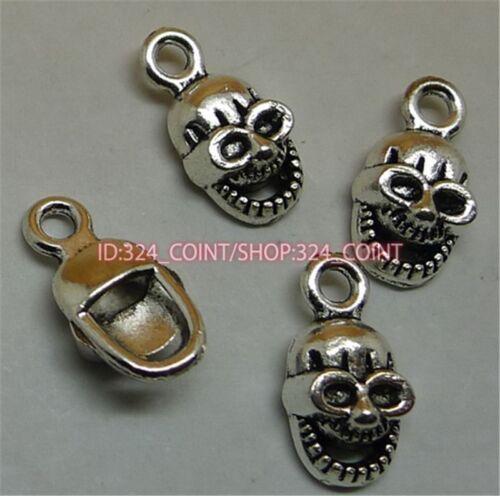 P1153 20pc Tibetan Silver SKULL Charm Beads Pendant accessories wholesale