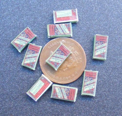 Escala 1:12 vacía Woodbine 10 paquete de cigarrillos tumdee casa de muñecas en miniatura de la barra