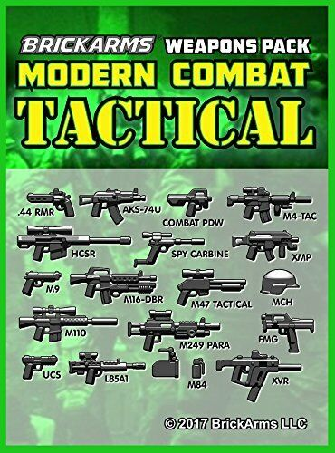 BrickArms Modern Combat v6 Tactical Weapons Pack 2017 for Lego Minifigures