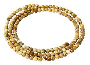 Landschaftsjaspis-Perlen-3-mm-Kugeln-feine-Saatperlen-Jaspis-Strang-Spacer