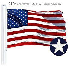 G128 ? American Flag US USA | 4x6 ft | Embroidered Stars, Sewn Stripes