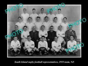 OLD-8x6-HISTORIC-PHOTO-OF-THE-SOUTH-ISLAND-REP-RUGBY-TEAM-1955-NEW-ZEALAND