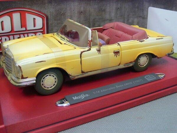 1 18 Maisto MB 280se 1967 Old Friends CABRIO GIALLO