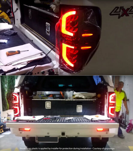 Bright LED Smoked Tail Lights Lamp Rear For Ford Ranger PX T6 MK1 MK2 Truck Car