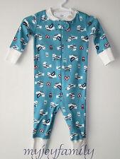 HANNA ANDERSSON Baby Organic Zip Sleeper Folk Love Bird Heart 60 6-9 mos NWT