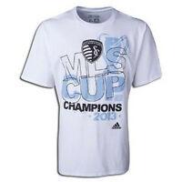 Adidas Mls Sporting Kansas City Kc 2013 Mls Cup Champions Soccer Shirt White