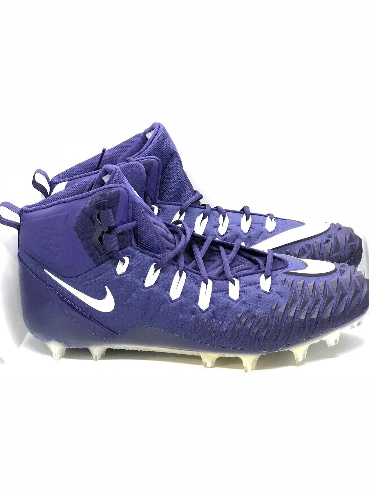 NIKE FORCE SAVAGE PRO TD PROMO FOOTBALL CLEATS PURPLE 918346-515 NEW SZ 18