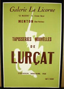 Plakat-Originell-1962-Galerie-der-Einhorn-Kinn-Tapisserie-der-Lurcat-Unicorn