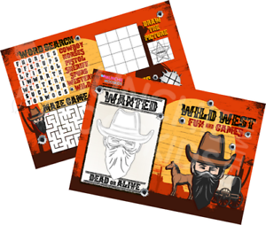 Pack-of-12-Wild-West-Fun-and-Games-Activity-Sheets-Party-Bags-Cowboy-Fillers