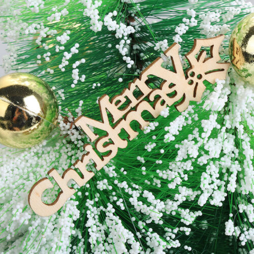 DIY Laser Cut Merry Christmas Hanging Ornaments Handcraft Letter Wood Pieces