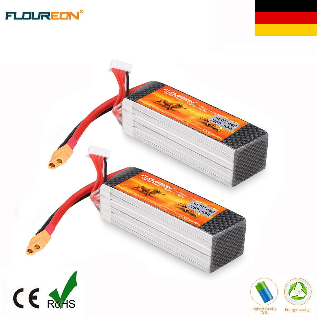 Nuevo 2  4s 14.8v 2200mah batería Li-po batería Pack 45c xt60 Plug RC hobby Boat de