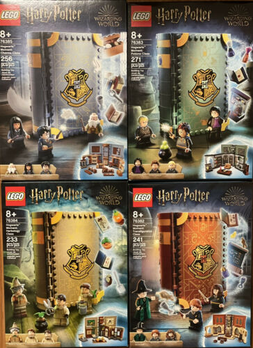 LEGO Harry Potter Hogwarts Moment Sets of 4 76382 76383 76384 76385 on Hand for sale online