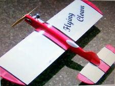 """Vintage """"SUPER DUPER"""" FLYING CLOWN OT UC Stunt Model Airplane PLAN Enlarged 150%"""