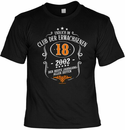 Urkunde Club der Erwachsenen 2002 T-Shirt 18 Geburtstag // Volljährigkeit