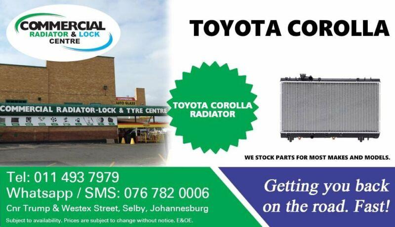 Radiator For Toyota Corolla For Sale