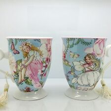 SET 2 VINTAGE STYLE FINE CHINA MUGS GIFT BOXED FAIRY COFFEE TEA SET KITCHEN CUP