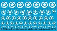 Peddinghaus 1/72 US Army Stars WWII (Invasion - Broken Circle) (White) 2092