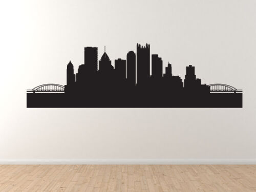 Pittsburgh PA Contour Silhouette Vinyl Wall Decal Art American City Skyline