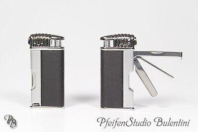 Pfeifenfeuerzeug ORLANDO mit 3-tlg. Pfeifen-Besteck Metall Feuerzeug für Pfeife