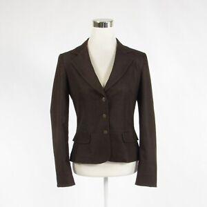 Dark-brown-cotton-blend-TAHARI-long-sleeve-blazer-jacket-8