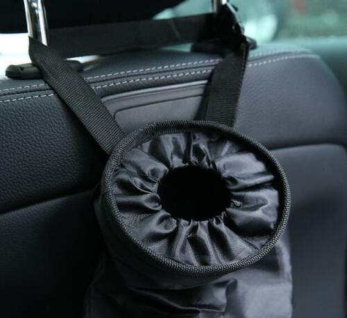 2Pcs 14 x 7 in Leakproof Eco-friendly Car Garbage Bags for Vehic Black Car Trash