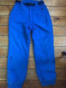 Vintage Roffe Esquí Snowboard Pantalones Cintura Con Cinturón Para Mujer Azul Grande 12 Excelente Ebay
