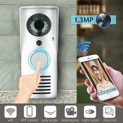 Smart WiFi Kabellos Türklingelanlagen Handy Nachtsicht Kamera Intercom Video 720