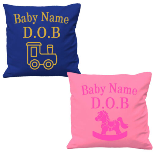 Nursery Cushion Covers Baby Girl Baby Boy Newborn Dob nom New Arrival Babies