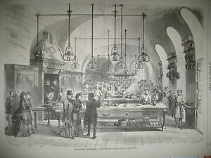 TUILERIES-CUISINE-PAVILLON-DE-FLORE-RUE-DE-LA-HARPE-JEU-CLANDESTIN-GRAVURES-1870